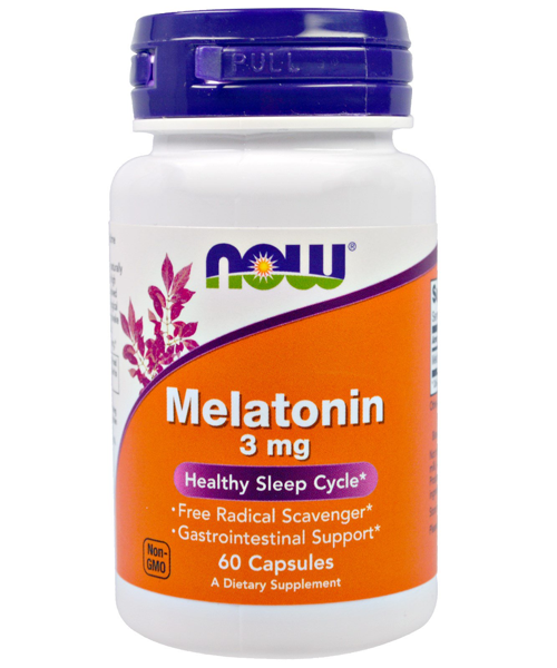 Melatonin 3 mg NOW 60 капс.