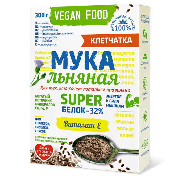 Мука Льняная Vegan Food Компас Здоровья