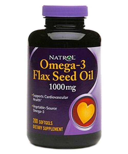 Flax Seed Oil 1000 mg Natrol 200 капс.