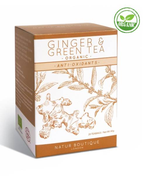Organic Green Tea With Ginger Ufeelgood 20 пак.