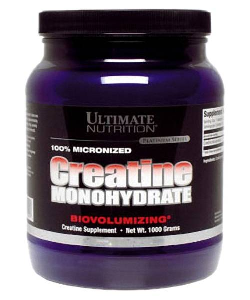 100% Micronized Creatine Monohydrate Ultimate Nutrition 1000 гр.