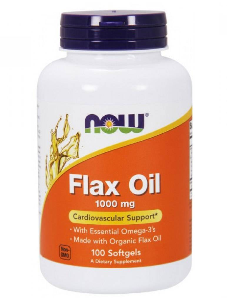 Flax Oil 1000 mg NOW 100 капс.
