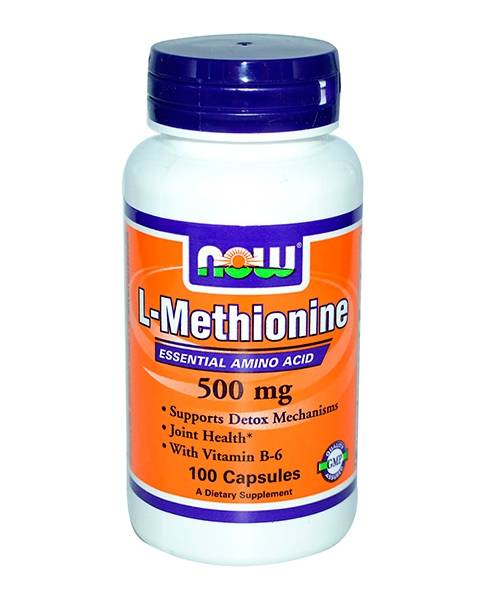 L-methionine 500 mg NOW 100 капс.