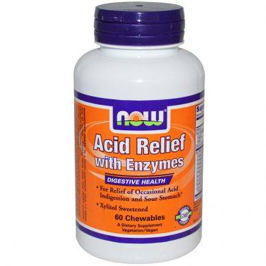 Acid Relief Chew Enzymes NOW