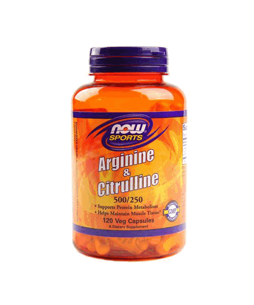Arginine 500 mg & Citrulline 250 mg NOW 120 капс.