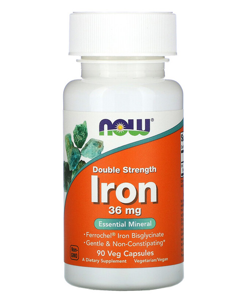 Iron 36 mg. NOW