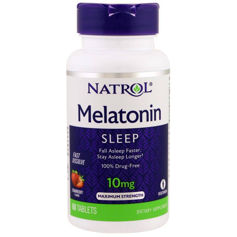 Melatonin 10 mg Natrol 60 таб.
