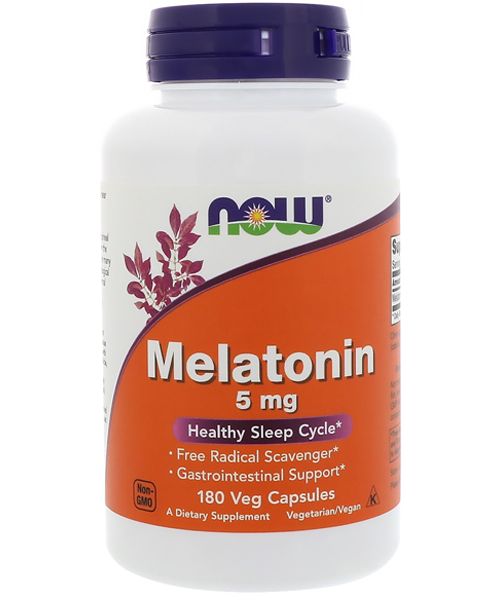 Melatonin 5 mg NOW 180 капс.