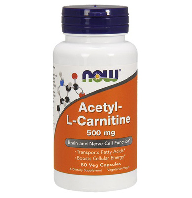 Acetil L-carnitine 500 mg NOW