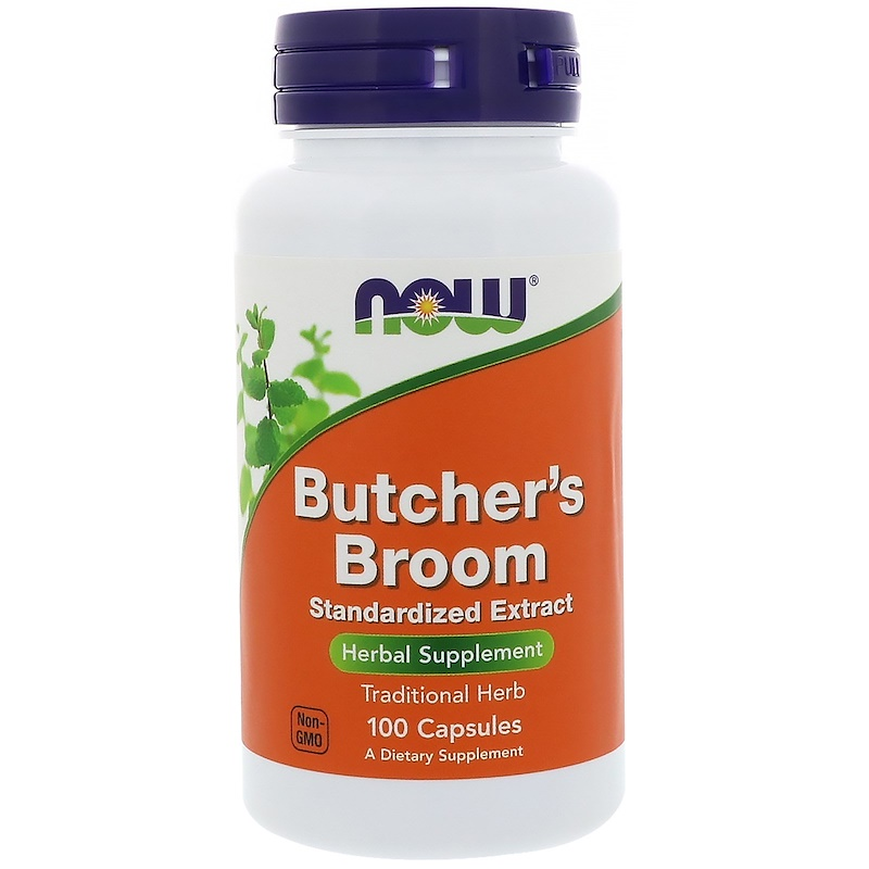 Butcher's Broom 100 mg 10% Extract NOW