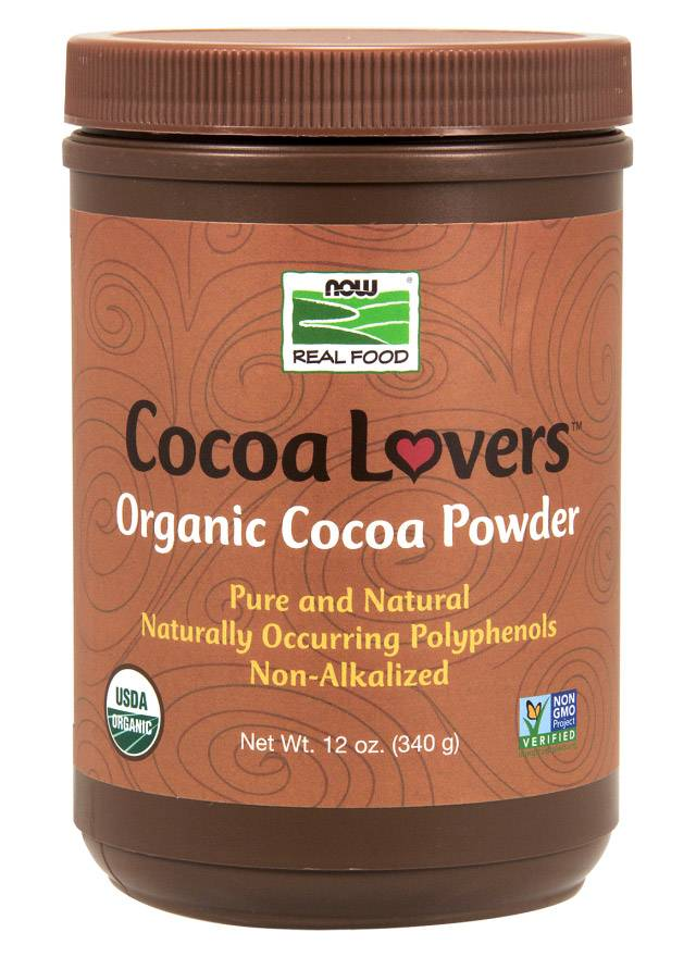 Cocoa Powder Pure Organic NOW