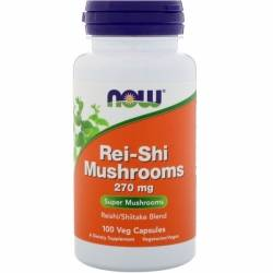 Rei-shi Mushrooms 270 mg NOW 100 капс.