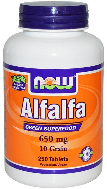 Alfalfa Herb 500 mg NOW