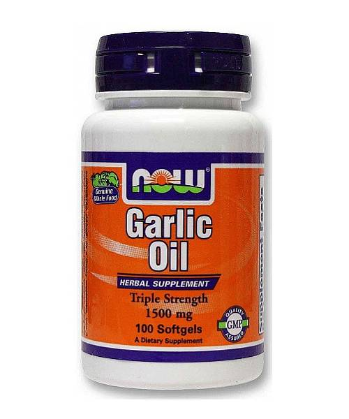 Garlic Oil 1500 mg. NOW 100 капс.
