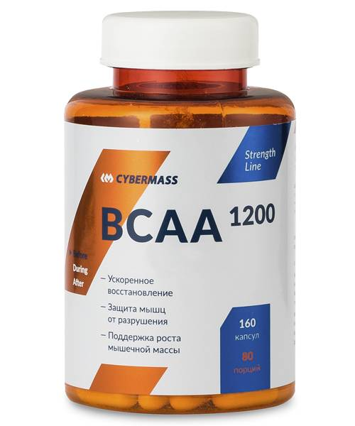 Bcaa 1200 Caps Cybermass 160 капс.