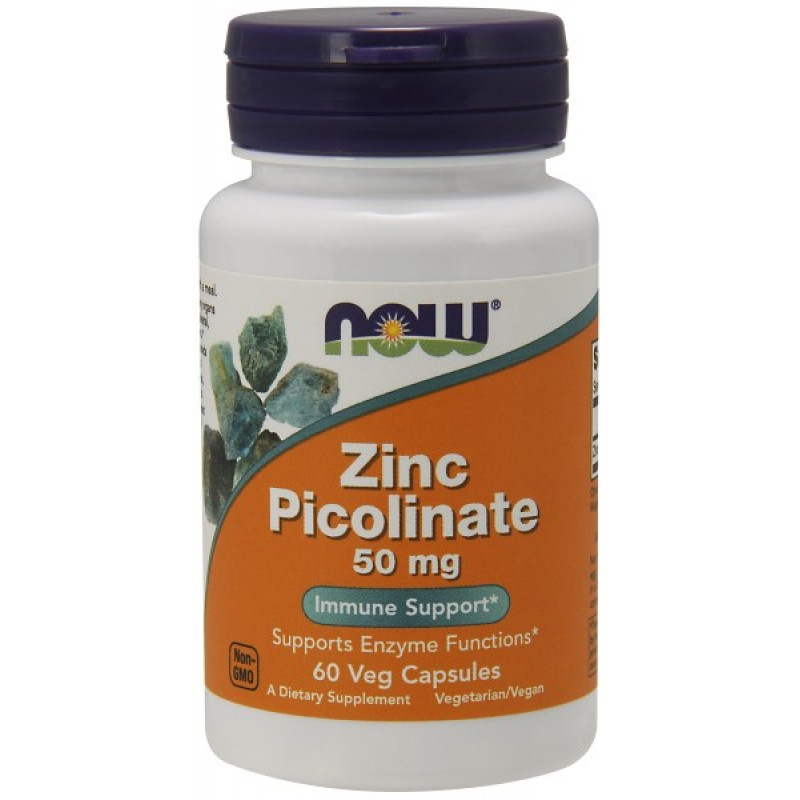 Zinc Picolinate 50 mg NOW 60 капс.