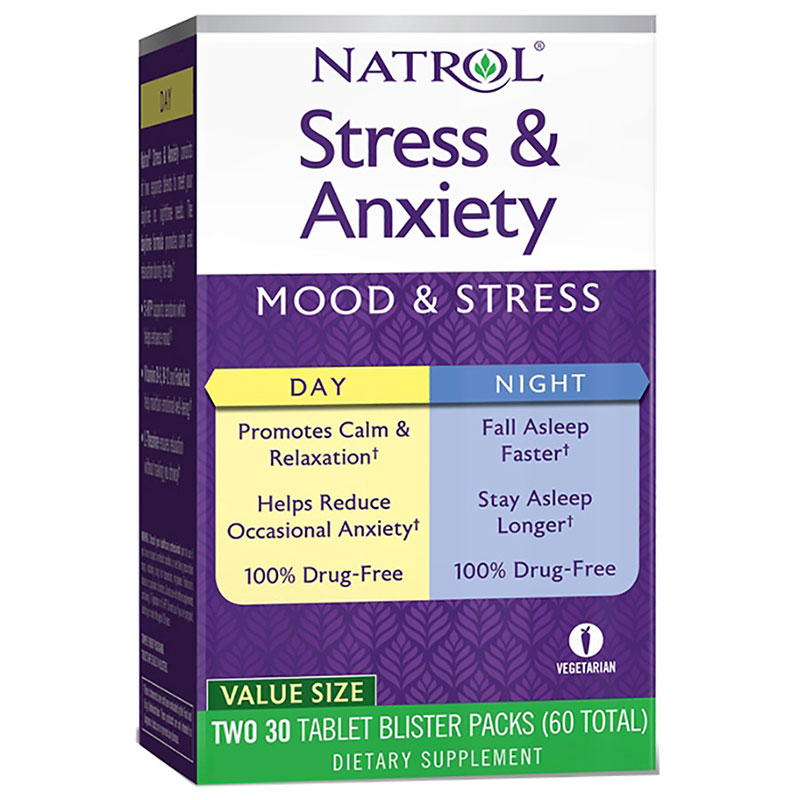 Stress & Anxiety Day & Night Natrol