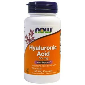 Hyaluronic Acid 50 mg + MSM NOW 60 капс.
