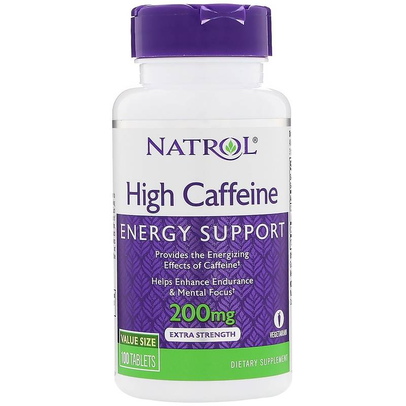 High Caffeine 200 mg Natrol 100 таб.