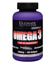 Omega-3 Ultimate Nutrition 180 капс.